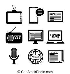 comunicazione, disegno, icona