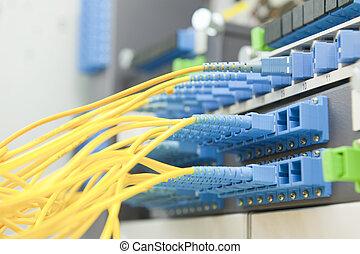 comunicazione, e, internet, rete