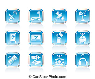 comunicazione fili, icone