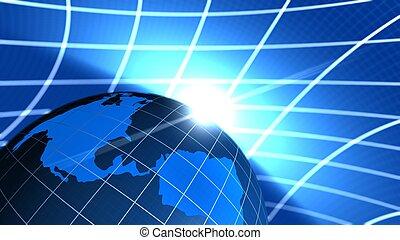 comunicazione, globale, fine, illustrazione, mondo