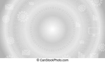 comunicazione globale, grigio, tecnologia, video, clip