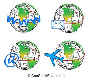 comunicazione, globo