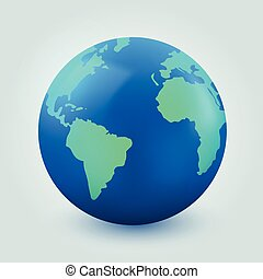 comunicazione, globo, fondo., internet, terra, bianco, concept.