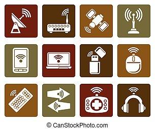 comunicazione, icone tecnologia