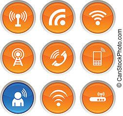 comunicazione, icons.