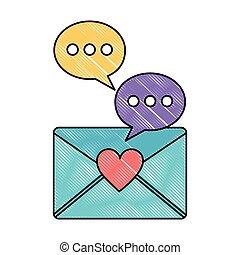 comunicazione, messaggio, discorso, amore, bolla