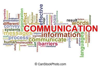 comunicazione, parola, etichette