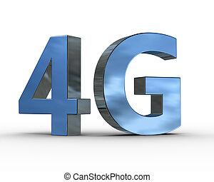 comunicazione, simbolo, fili, 4g, tecnologia, 3d