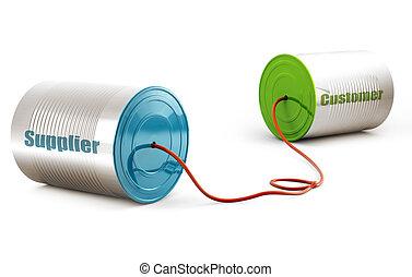comunicazione, vendite, fornitura