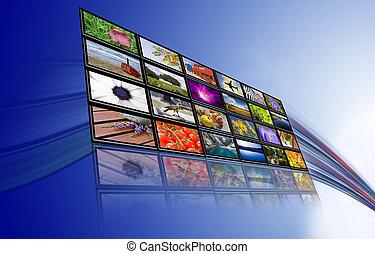 comunicazioni, touch-screen