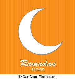 comunidad, luna, illustratio, plano de fondo, musulmán, ...