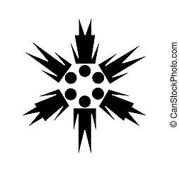 comunidad, símbolo, vector