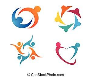comunidade, cuidado, logotipo