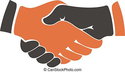 comunidades, cultural, mãos sacudindo, entre