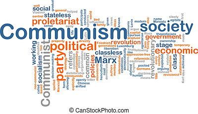 comunismo, palavra, nuvem