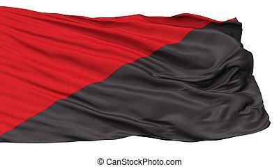 comunista, bandera, anar, aislado, blanco
