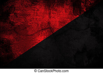 comunista, bandera, movemnet, anarcho