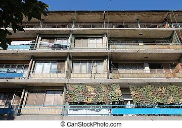 comunista, edificio, apartamento
