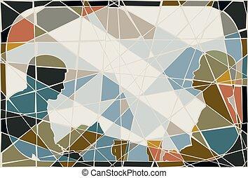 comutar, mosaico