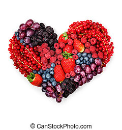 con, amor, a, berries.