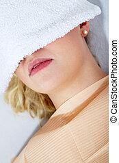 con, cosmético, tratamiento dental