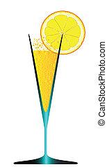 con, hielo, y, limón