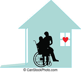 con, honor, y, dignidad, -, casa cuidado