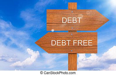 conccept, φόντο , χρέος