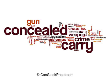Concealed carry word cloud concept - Concealed carry word...