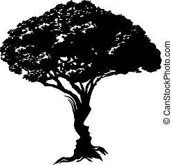 conceito, árvore, caras