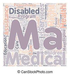 conceito, 21, vista geral, médico, idades, 3 pessoas, wordcloud, fundo, texto, incapacidades, assistência