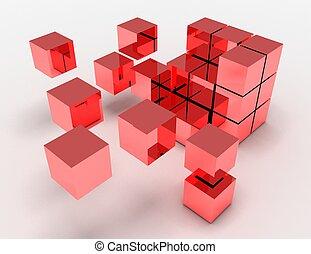 conceito abstrato, cubos