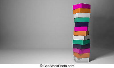 conceito abstrato, desenho, coloridos, cubos