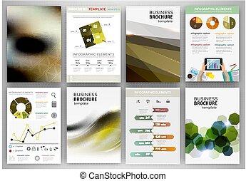conceito abstrato, fundos, negócio, infographics
