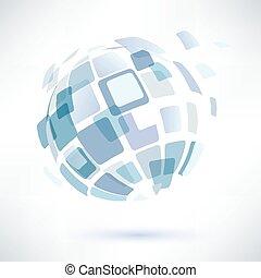 conceito abstrato, globo, negócio, símbolo