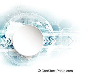conceito, abstratos, global, vetorial, fundo, tecnologia digital