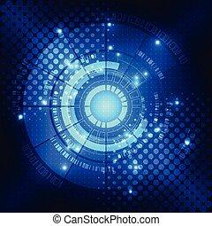 conceito, abstratos, vetorial, fundo, tecnologia digital