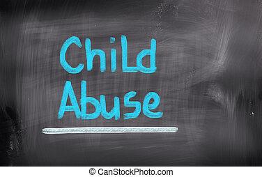 conceito, abuso, criança