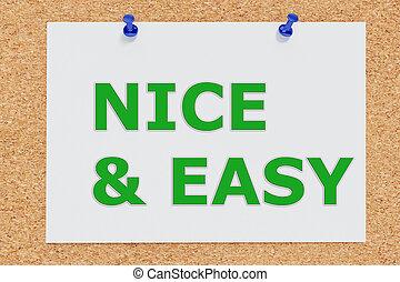conceito, agradável, fácil, &