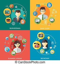 conceito, ajuda, projeto fixo, clique, informação, serviço, ícones, apoio, contato, chamada, infographics, site web, apartamento, fregueses, elementos, negócio, teia, companhia, ilustração, telefone, escrivaninha, aproximadamente, vetorial