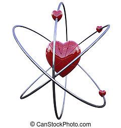 conceito, amor, átomo