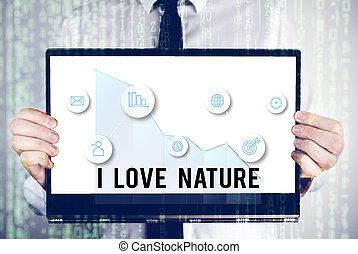 conceito, amor, ecosystem., proteja, nature., palavra, natural, apreciar, meio ambiente, preservação, escrita, texto, negócio