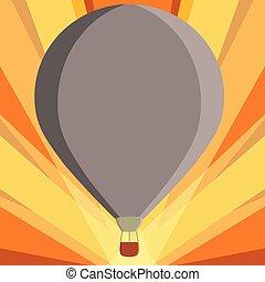 conceito, anúncio, cor, texto, aquilo, três, desenho, penduradas, isometric, espaço, balloon, flutuante, isolado, quentes, modelo, sob, vazio, 3d, site web, apartamento, ilustração negócio, amarrada, cópia, toned, esp, ar, vetorial, cesta