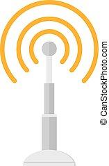 conceito, antena, móvel, telecomunicações, telefone, base,...
