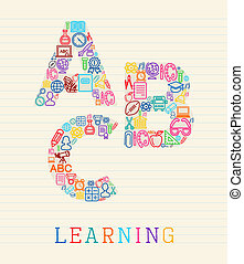 conceito, aprendizagem, ilustração