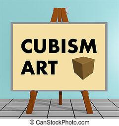 conceito, arte, cubismo