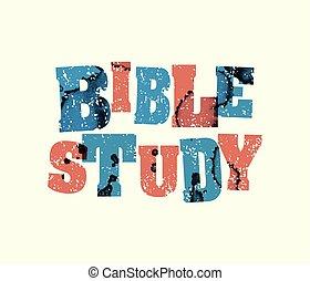 conceito, arte, estampado, estudo, ilustração, bíblia, palavra