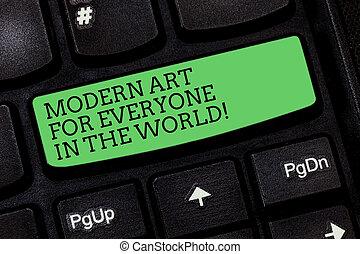 conceito, arte, keypad, texto, modernos, teclado computador, mensagem, espalhar, criar, criatividade, escrita, intention, outro, world., negócio, mostrando, tecla, palavra, idea., apertando, everyone