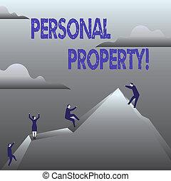 conceito, ativos, posses, pessoal, texto, privado, significado, indivíduo, pertences, letra, property., owner.