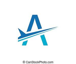 conceito, aviação, vetorial, logotipo